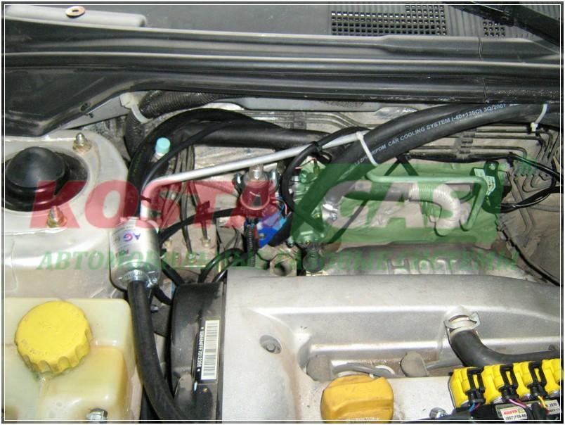 Установка газобаллонного оборудования на автомобиль