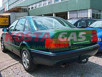 Установка газобаллонного оборудования на автомобиль Ауди в Украине
