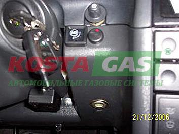 Переключатель автомобиля на газ-бензин