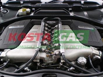 Газовые форсунки автомобиля Бентли с ГБО системой