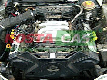 Работа двигателя автомобиля Ауди с ГБО